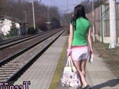 Porn teen girls sex Masturbating at the instruct station