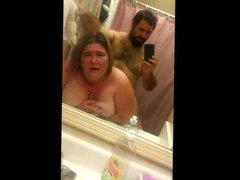 BBW having sex in the bathroom
