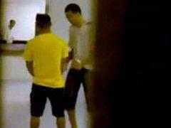 Str8 spy guys in public toilet