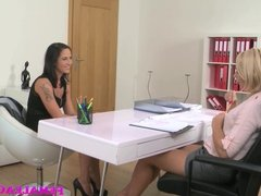 FemaleAgent Slim beauty gets her first lesbian experience