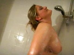 Chubby German Blowjob in the Shower