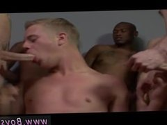 Smooth chubby gay blowjob facial He got his magnificent face frosted in
