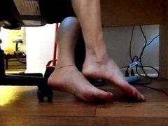 seductive big feet