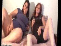 Two ladies double handjob