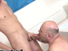 Gay mature asspounded by young stud