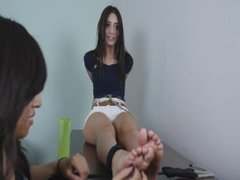 Sexy Latina Spanish Girl Maria First Time Tickle