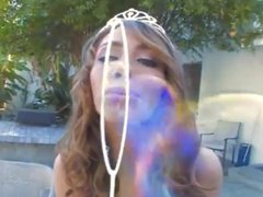 Enthusiastic 19yr old anal princess Dakoda in her first DP!
