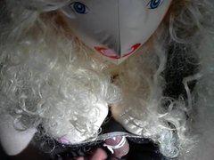 Just a Little teasing of my doll with bound cock and balls