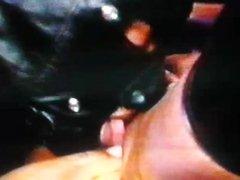 LATEX EBONY TAKE 2 DICKS