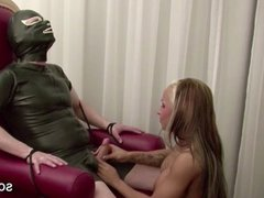 German Hot Bitch in Stockings Femdom and Fuck