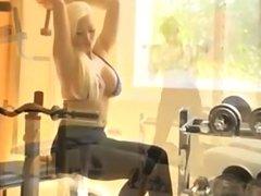 Busty Blonde Slut on Hard Fitness Cock, Porn