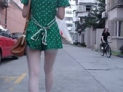Perfect tight short dress  girl candid