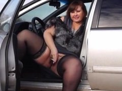 From SEXDATEMILF.COM BBW By A Pussy Hairy , Smoke In The Car