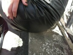 Leather skirt close up 2