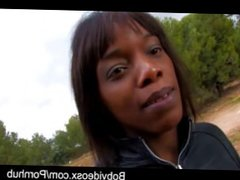 Kenya Diaw a beautiful black girl fucked in the woods