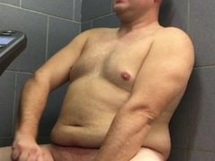 Quad Guy Playing around in Pool Shower
