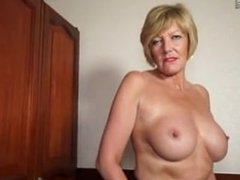 Hot amateur British granny FROM SEXDATEMILF.COM playing with her wet pussy