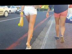 Hot short shorts combo