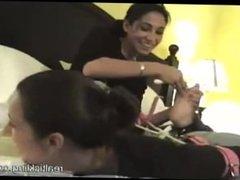 Sisters Tickling in Hogtie