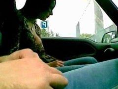 Italian prostitute performs fellatio and sex drive