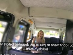 Hot Blonde Slut Pleasing The Taxi Driver P