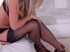 Eva Parcker in Lingerie. Strip & Masturbate