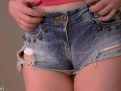 Spanish teen in labia-shorts