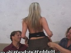 Proud Hubby Excited To Watch Wife