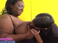 Black Big Bosom SSBBW Gets Fucked by a White Hunk