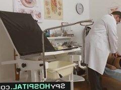 High heels hottie and old doctor hidden cam clip