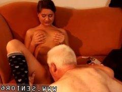 Older man fucking young girl bareback with big uncut cock Latoya makes