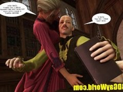 Lord Randolph jerking off alone and Young Readhead Cum Lover 3D Gay Comics