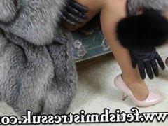 #Natalia Forrest Natalia Forrest in luxury fur coat
