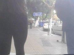 round greek candid ass in leggings.hidden cam.voyeur