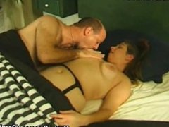 Plumper in nylons fucked in bed