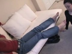 Mistress Gets Her Feet Worshipped
