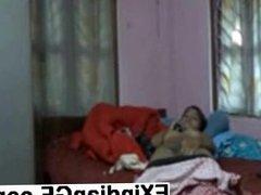 Indian GF talking on the phone and masturbating