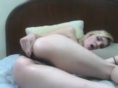 Teen loves her small vibrator in the ass.My X-mas live webcam: 4xcams.com