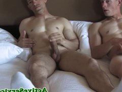 Army cadets sixtynining before masturbating
