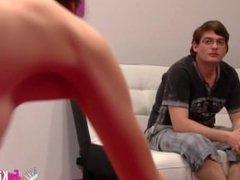 Jordi fucks Lucy in front of her boyfriend