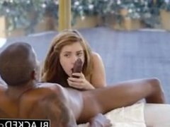 Black guy fucks white chick