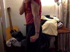 Muscle Flexing in Room