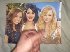 Taylor, Katy and Miley tribute