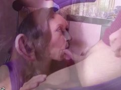 Big Natural Tit MILF Mother with Hairy Pussy