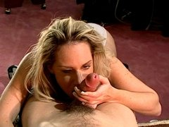 Blonde chick banged in the office