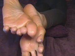 Size 12 Long Toes get Oiled