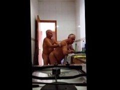 Grandpa Fuck in the Kitchen