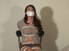 Boots girl gagged