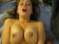 Heart of a Rebel- Amateur Ex GF with DD Boobs does Missionary w/ Cum Shot
