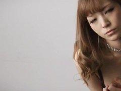 Amazing solo posing along lingerie beauty Yuria